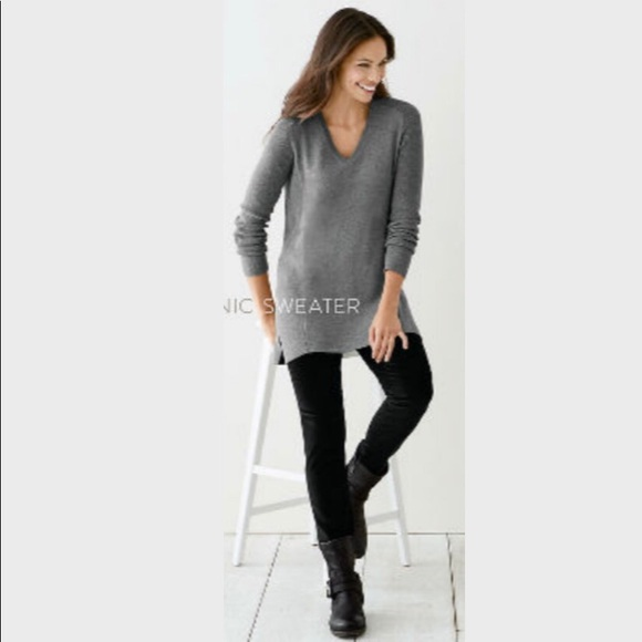 d4e9b0fba6 J. Jill Sweaters - J. Jill Ashley Tunic Sweater Knit Blue Grey Small